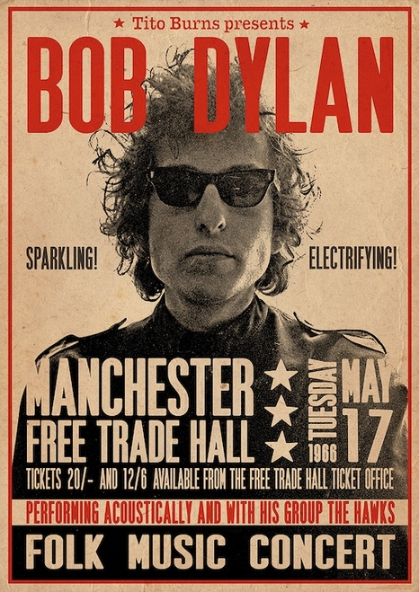Image for Bob Dylan Poster - Manchester 1966