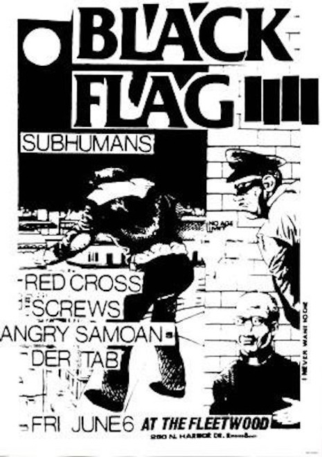 Image for Black Flag Poster - At the Fleetwood Playbill