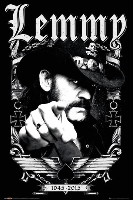 Image for Motorhead Poster - Lemmy 1945-2015