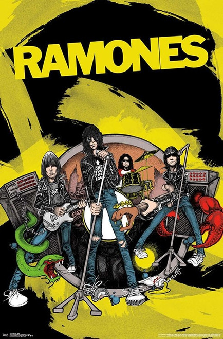 Image for The Ramones Poster - Animated