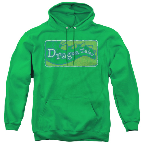 Image for Dragon Tales Hoodie - Logo Distressed on Kelly Green