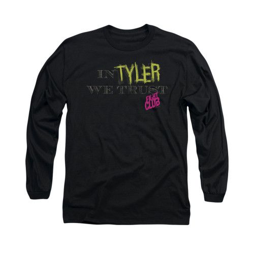 Image for Fight Club Long Sleeve T-Shirt - In Tyler We Trust