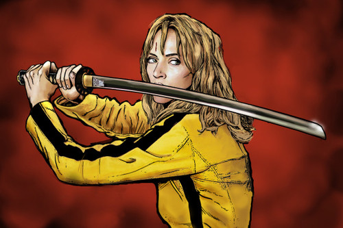 Image for Kill Bill Poster - The Bride Cartoon