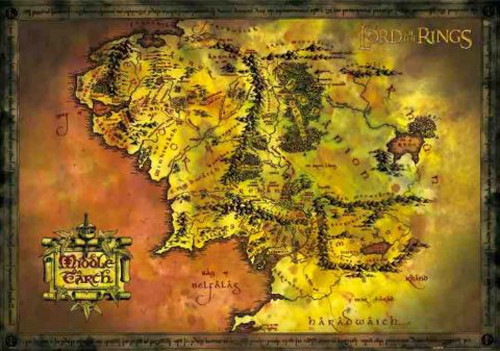 Image for Lord of the Rings Map of Middle Earth Poster