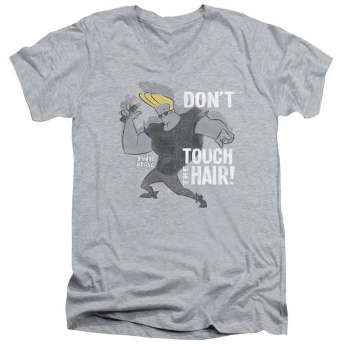 Image for Johnny Bravo V-Neck T-Shirt Hair