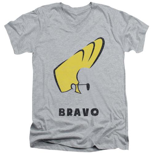 Image for Johnny Bravo V-Neck T-Shirt Johnny Hair