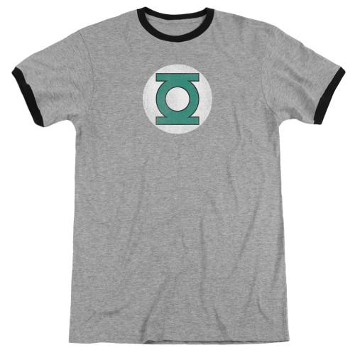 Image for Green Lantern Ringer - GL Logo Distressed on Grey