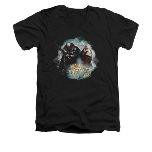 Image for The Hobbit V-Neck T-Shirt - We're Fighters