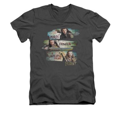 Image for The Hobbit V-Neck T-Shirt - Loyalty and Honour