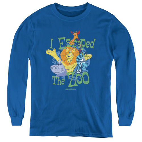 Image for Madagascar Youth Long Sleeve T-Shirt - Escaped