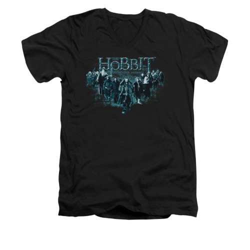Image for The Hobbit V-Neck T-Shirt - Thorin and Company