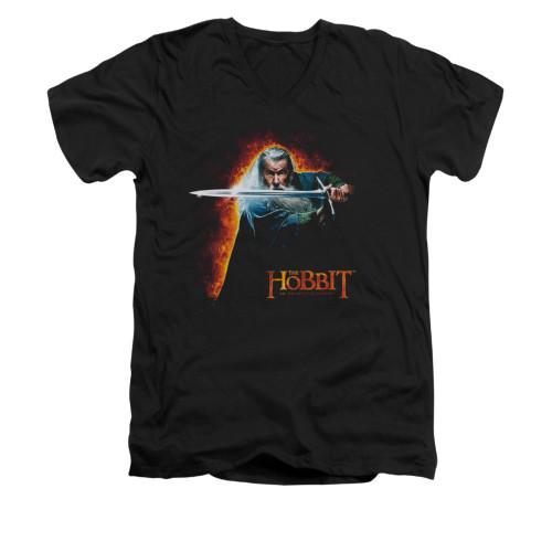 Image for The Hobbit V-Neck T-Shirt - Secret Fire