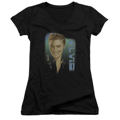 Image for Elvis Presley Girls V Neck T-Shirt - Elvis 56