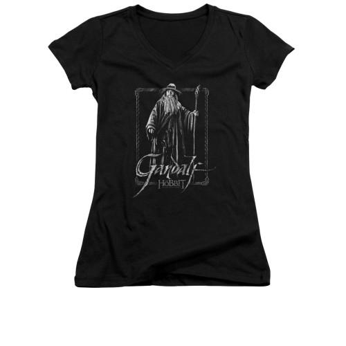 Image for The Hobbit Girls V Neck T-Shirt - Gandalf Stare