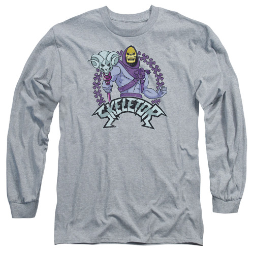Image for Masters of the Universe Long Sleeve T-Shirt - Skeletor on Grey