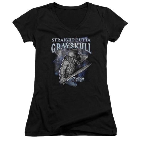 Image for Masters of the Universe Girls V Neck T-Shirt - Straight Outta Grayskull
