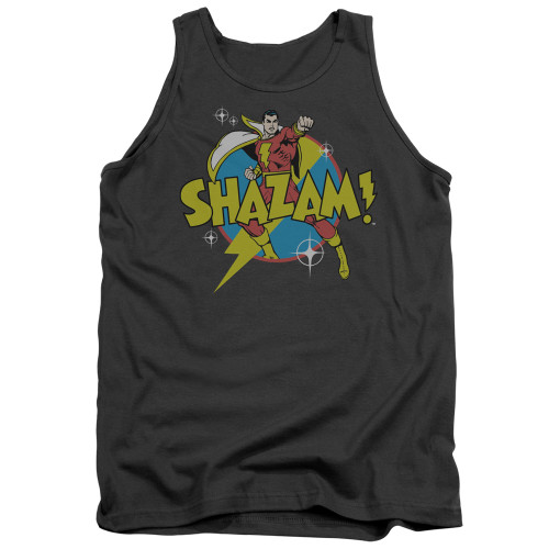 Image for Shazam Tank Top - Power Bolt on Charcoal