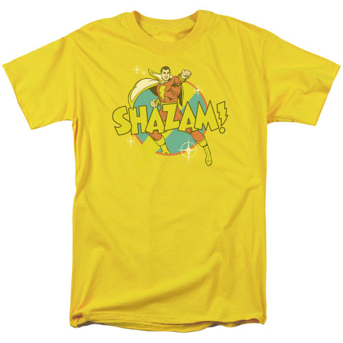 Image for Shazam T-Shirt - Power Bolt on Yellow