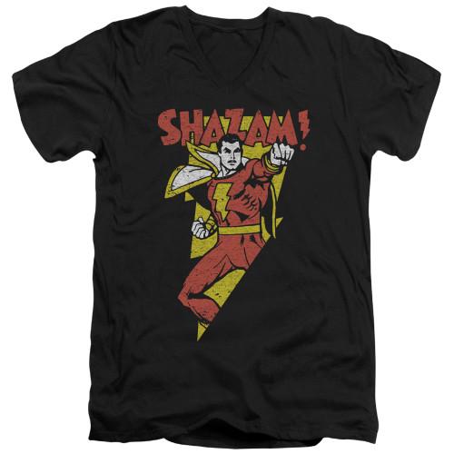 Image for Shazam V-Neck T-Shirt In Bolt