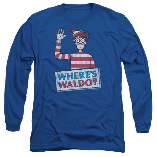 Image for Where's Waldo Long Sleeve T-Shirt - Waldo Wave