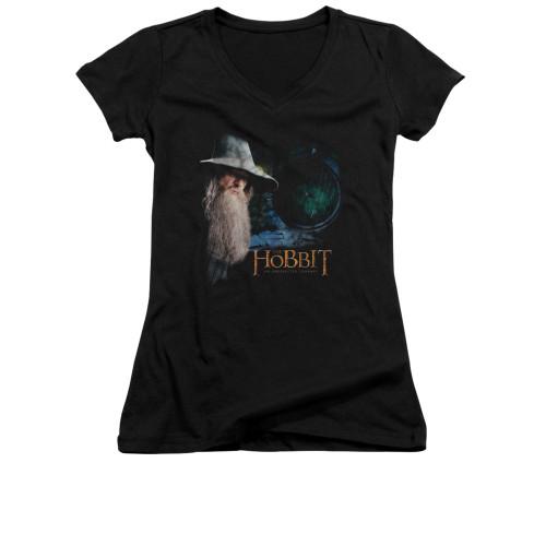 Image for The Hobbit Girls V Neck T-Shirt - The Door