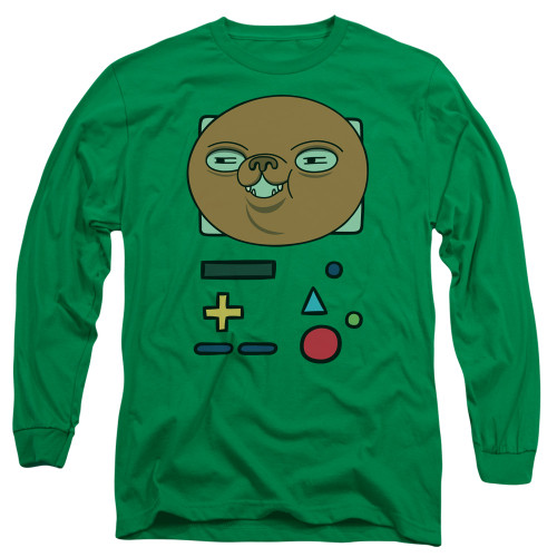 Image for Adventure Time Long Sleeve T-Shirt - BMO Mask