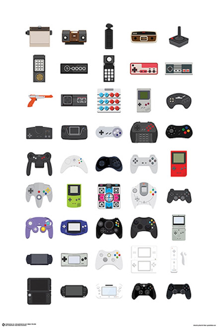 Image for Video Game Controllers Poster