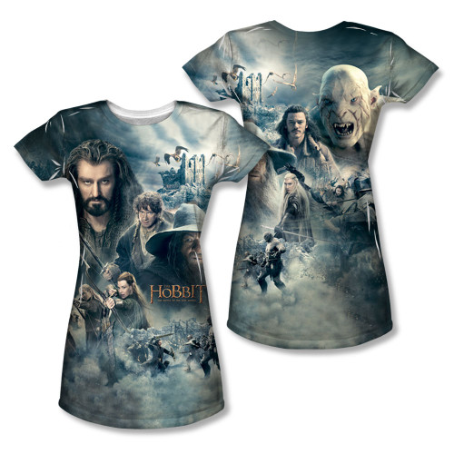 Image Closeup for The Hobbit Girls Sublimated T-Shirt - Epic Poster