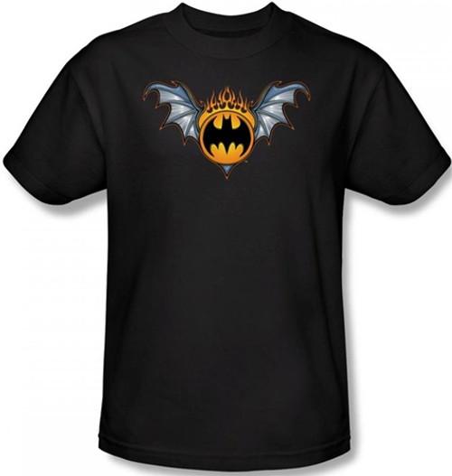 Image Closeup for Batman T-Shirt - Bat Wings Logo