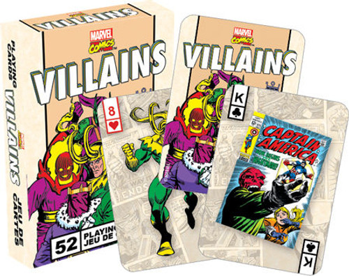 Marvel Retro Villains Playing Cards