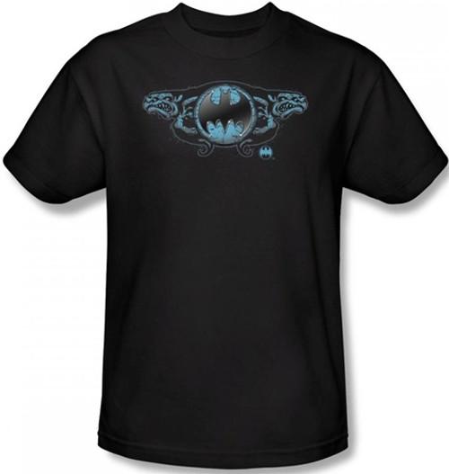 Image Closeup for Batman T-Shirt - Two Gargoyles Logo