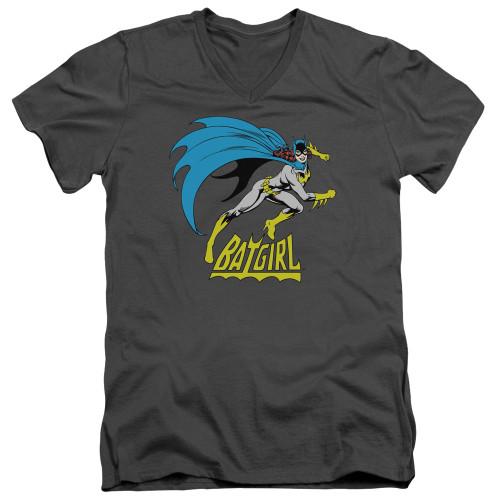Image for Batgirl V-Neck T-Shirt Batgirl is Hot