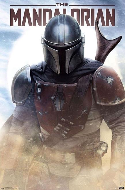 Image for Star Wars Mandalorian Poster - Battle