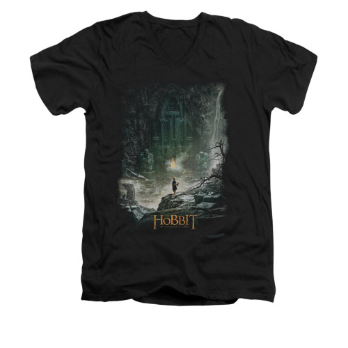 Image for The Hobbit V-Neck T-Shirt - At Smaug's Door