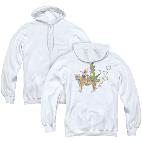 Image for Uncle Grandpa Zip Up Back Print Hoodie - Fart Hearts