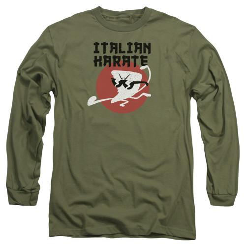 Image for Uncle Grandpa Long Sleeve T-Shirt - Italian Karate