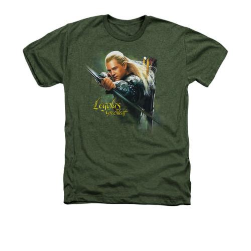 Image for The Hobbit Heather T-Shirt - Legolas Greenleaf