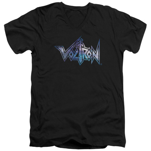 Image for Voltron V-Neck T-Shirt Space Logo