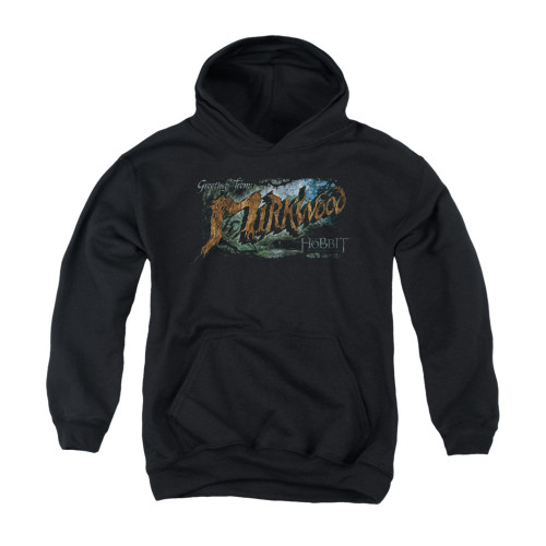 Image for The Hobbit Youth Hoodie - Greetings from Mirkwood