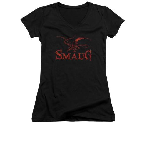 Image for The Hobbit Girls V Neck T-Shirt - Dragon