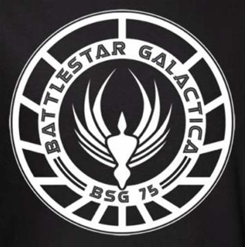 Image for Battlestar Galactica T-Shirt - Ship Logo