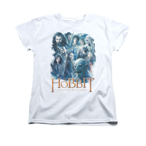 Image for The Hobbit Woman's T-Shirt - Main Characters