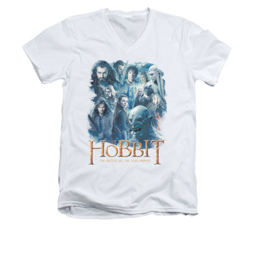 Image for The Hobbit V-Neck T-Shirt - Main Characters