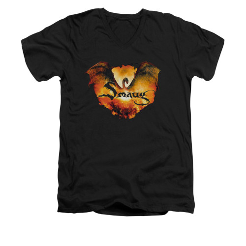 Image for The Hobbit V-Neck T-Shirt - Reign in Flame