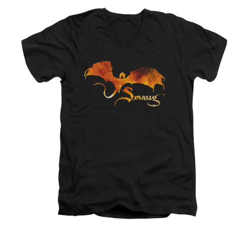 Image for The Hobbit V-Neck T-Shirt - Smaug on Fire