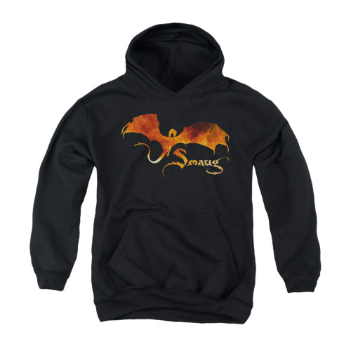 Image for The Hobbit Youth Hoodie - Smaug on Fire