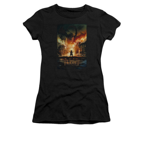 Image for The Hobbit Girls T-Shirt - Smaug Poster