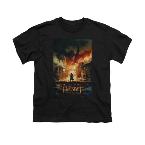 Image for The Hobbit Youth T-Shirt - Smaug Poster