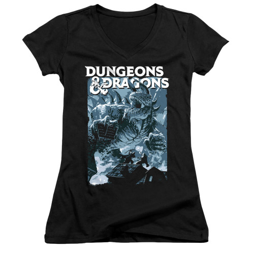 Image for Dungeons and Dragons Girls V Neck T-Shirt - Tarrasque