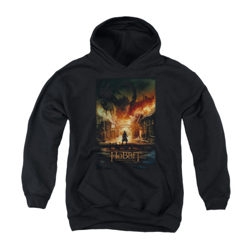 Image for The Hobbit Youth Hoodie - Smaug Poster